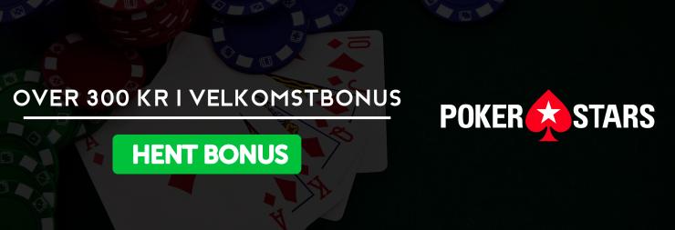 300 kr velkomstbonus pokerstars